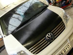 VW T5 Bonnet Wrapped
